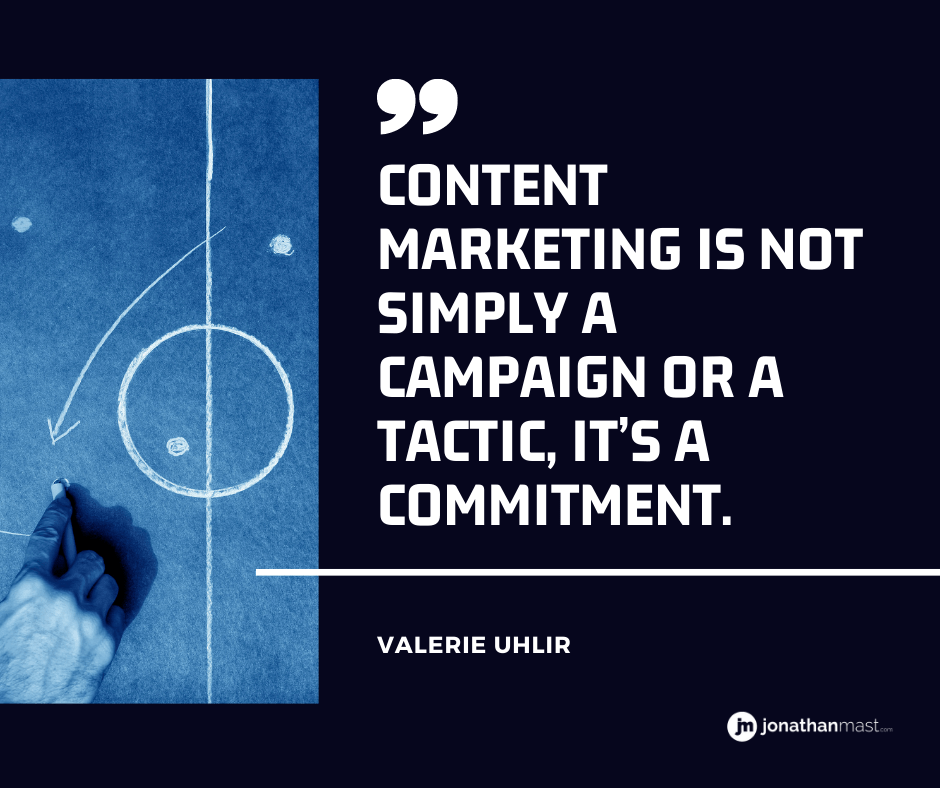 content marketing is a commitment