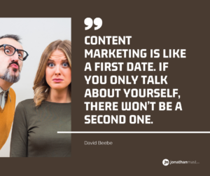 content marketing first impressions